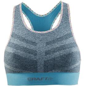 Craft W's Comfort Mid Impact Bra Grey Melange